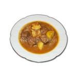 Мариновано телешко месо с картофи