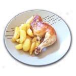 Пилешки бутчета с картофи